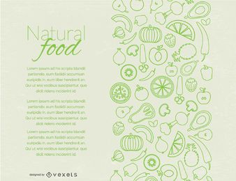 Design de página de comida natural