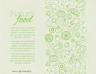 Diseño de página de alimentos naturales.