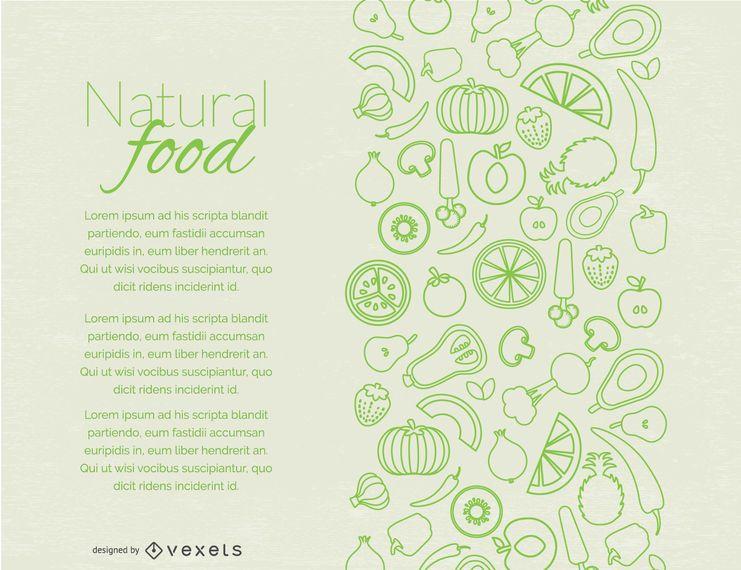 Natural food page design