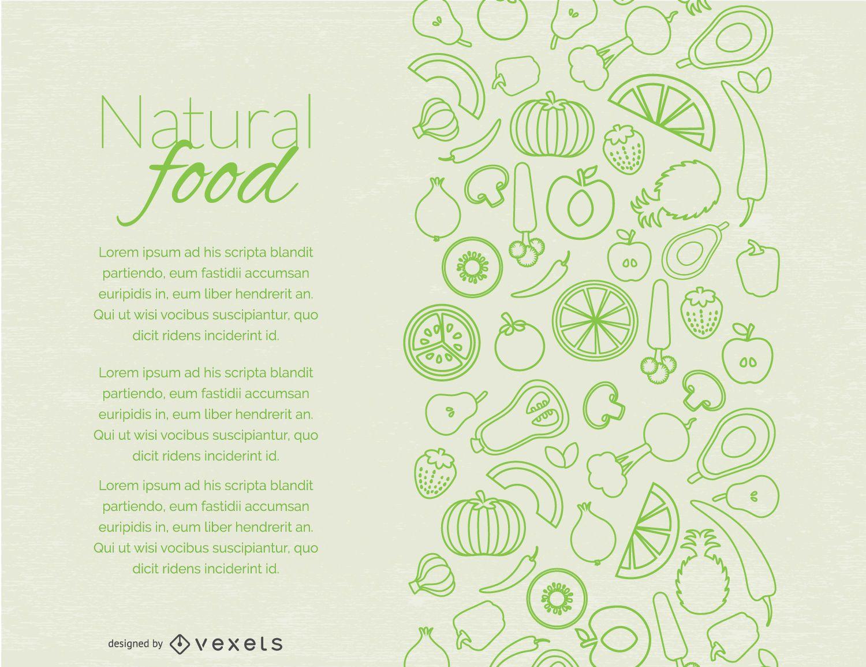 Natürliche Lebensmittelseitengestaltung