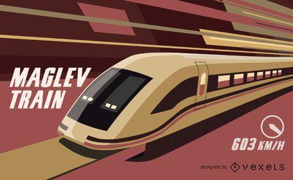 Vetor de trem Maglev