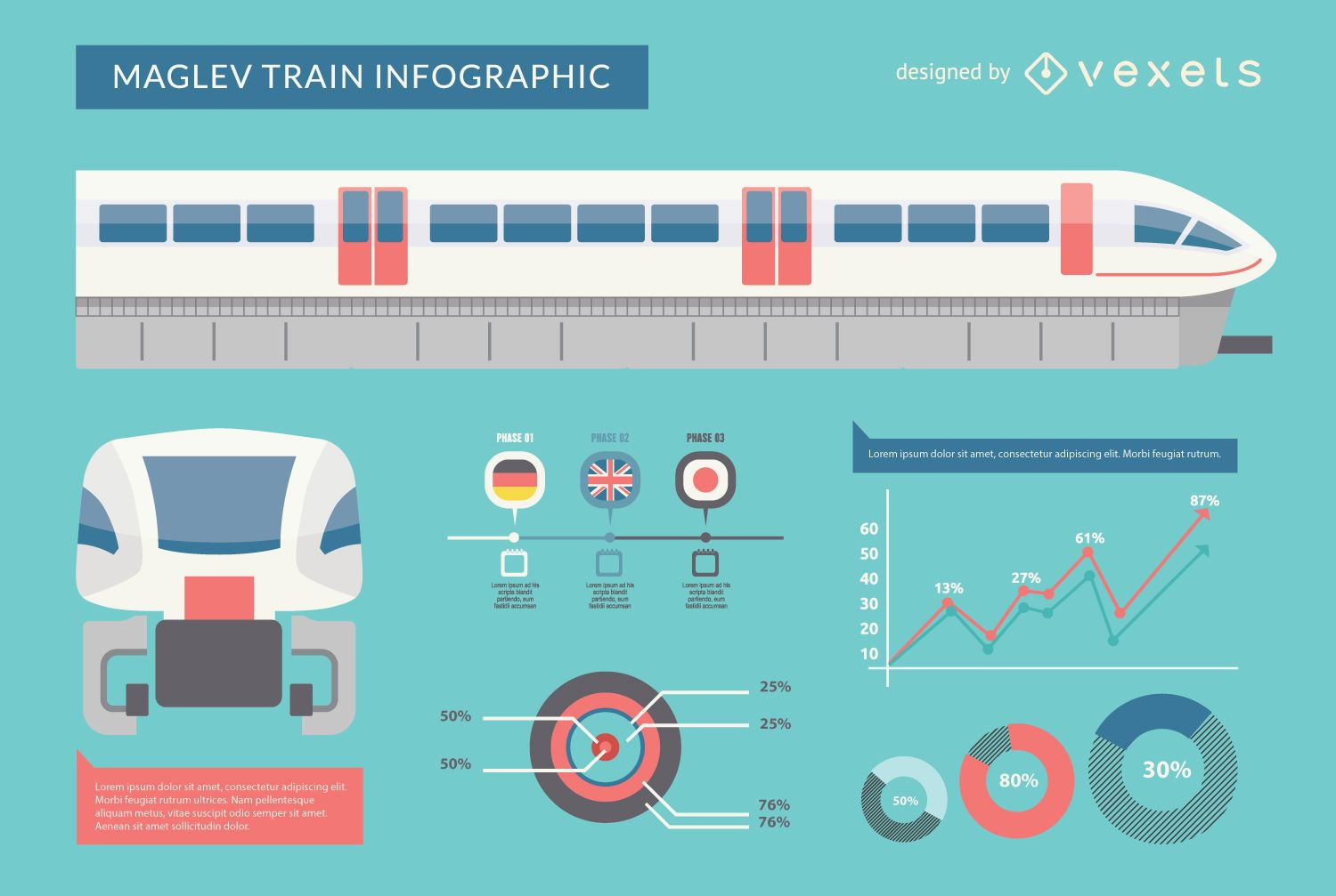 Maglev train infographic - Vector download