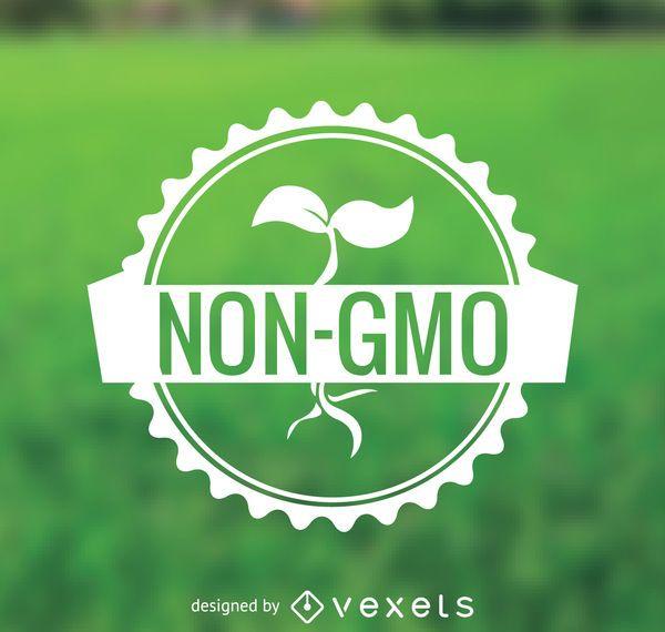 Pegatina de comida no GMO