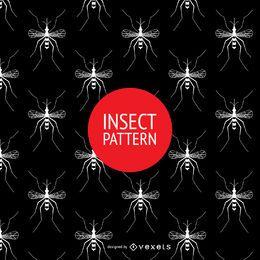 Patrón de mosquitos sin costura