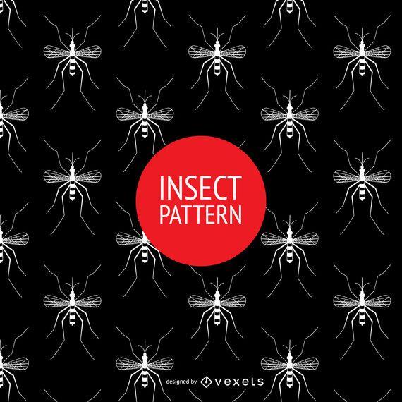 Seamless mosquito pattern