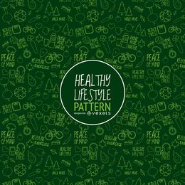 Padrão de estilo de vida saudável verde