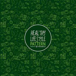 Patrón de estilo de vida saludable verde