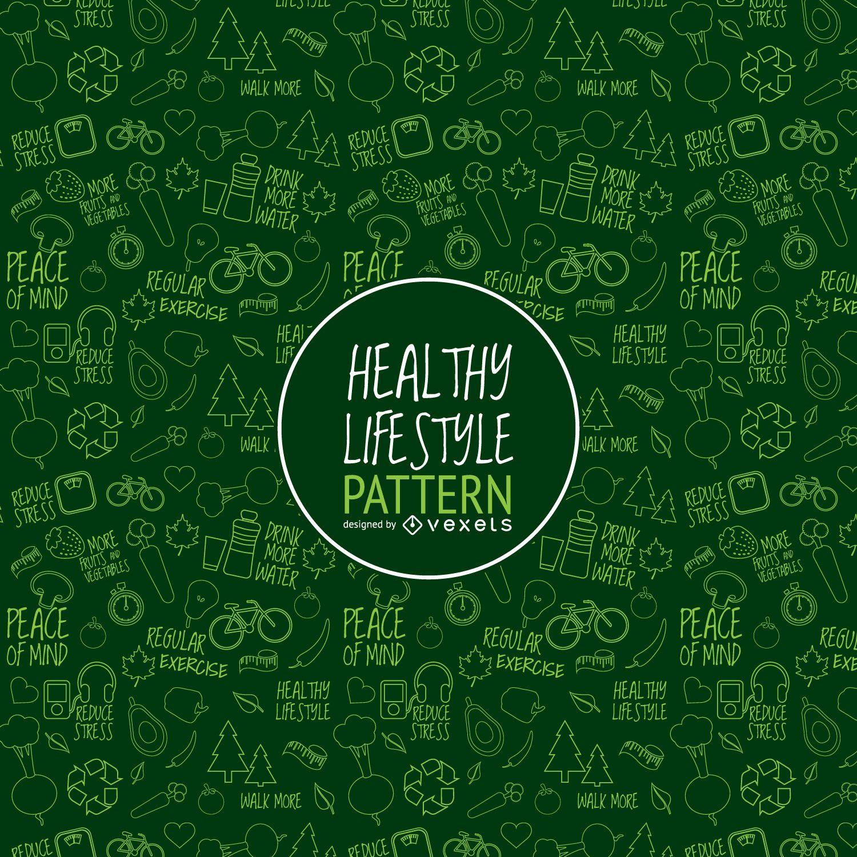 Grünes gesundes Lebensstilmuster