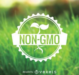 Non GMO food badge