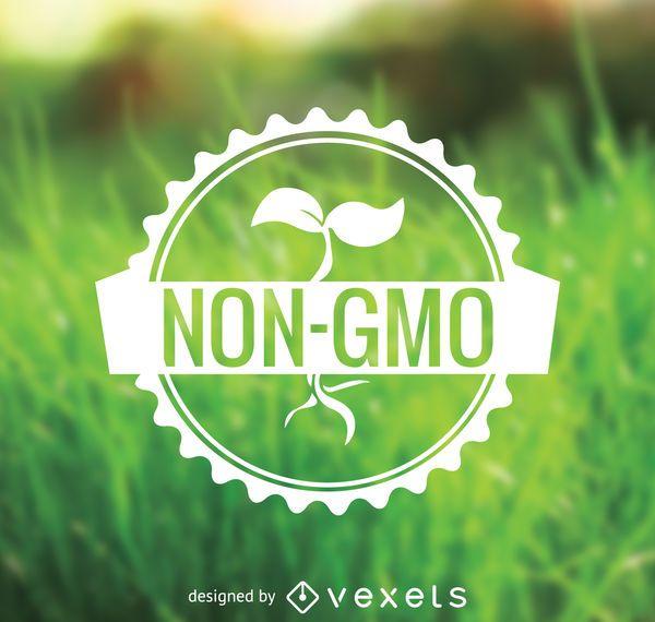 Non GMO food badge