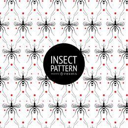 Nahtloses Muster des Insekts mit Punkten
