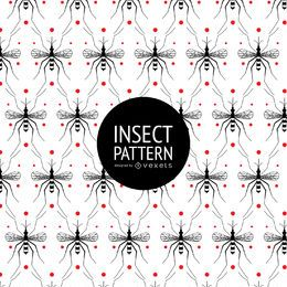 Patrón sin fisuras de insectos con puntos