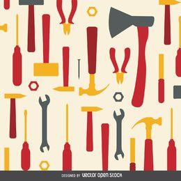 Patrón de herramientas de trabajo