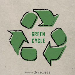 Dibujado a mano reciclar cartel