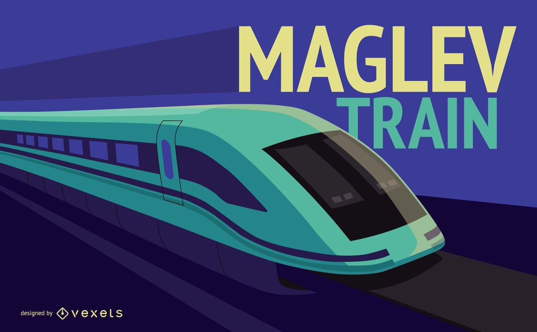 Ilustración de tren maglev
