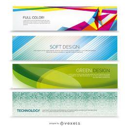 Conjunto de banner de negocio abstracto 4