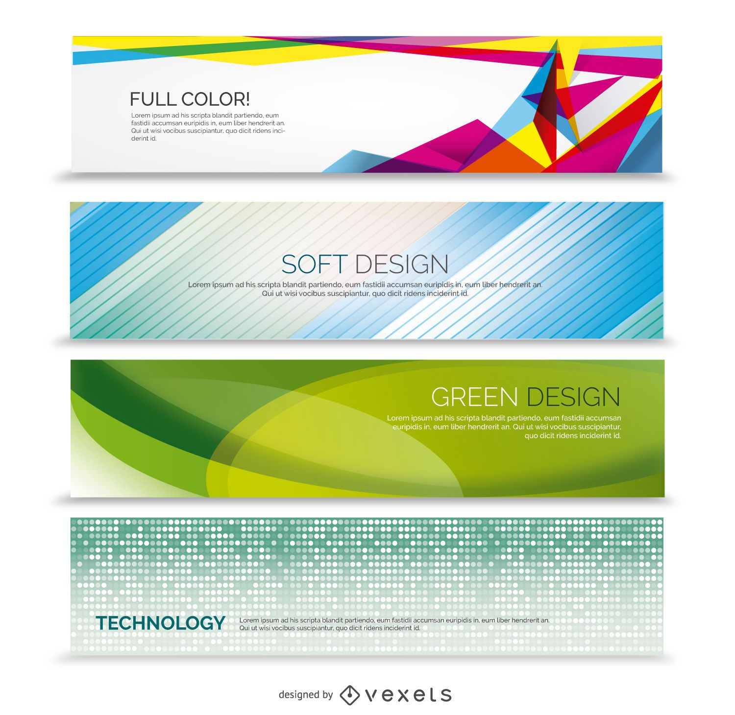 Abstract business 4 banner set