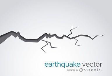 Terremoto, rachadura, ilustração