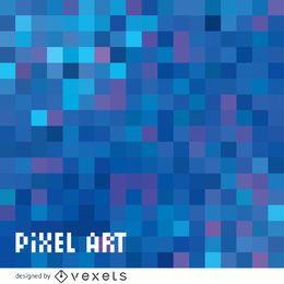 Abstrakter blauer Pixelhintergrund