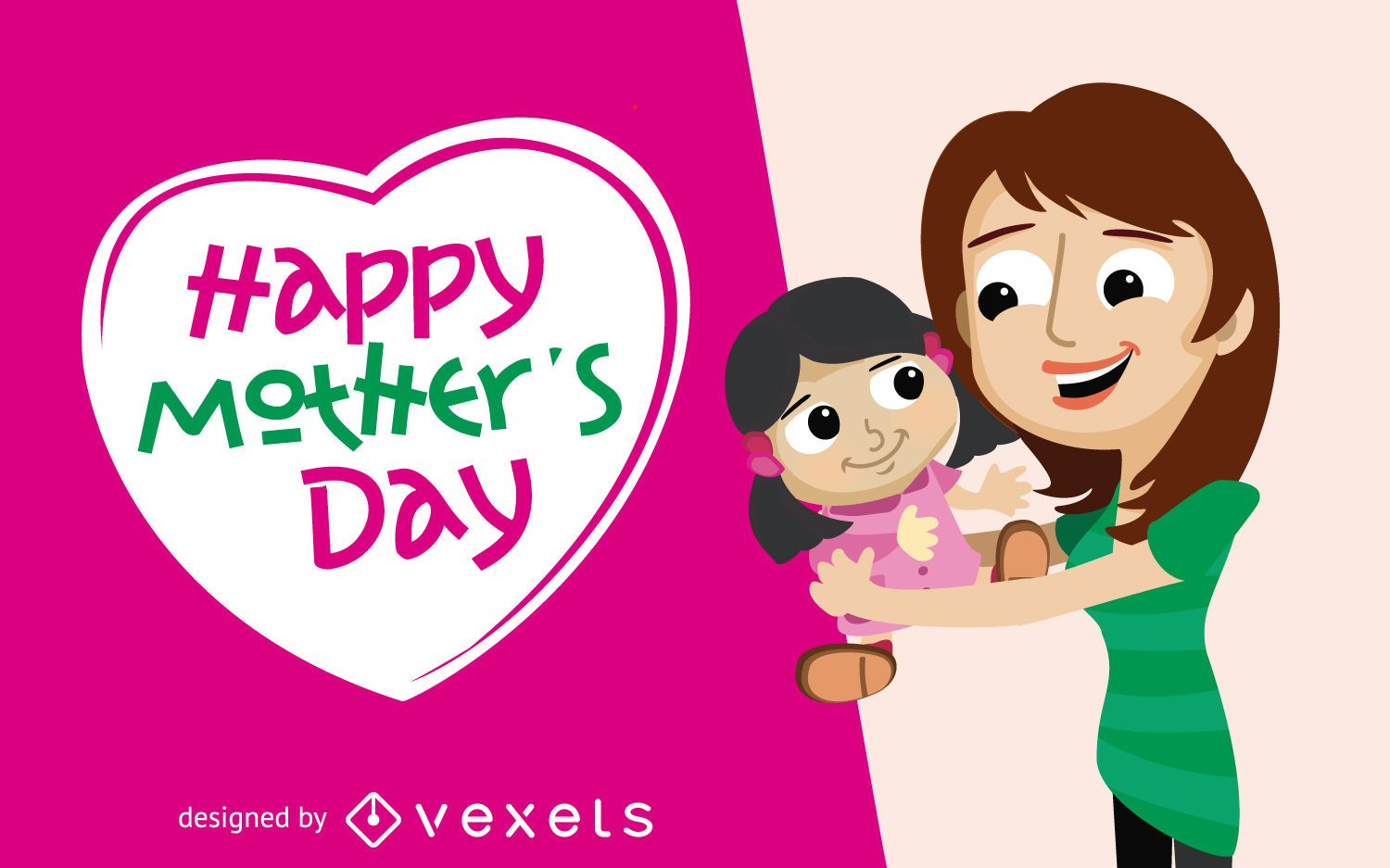 Mother's Day Greeting Card with Daughter