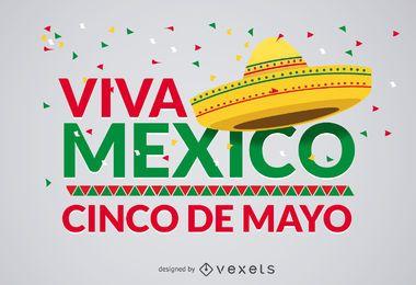 Diseño de Cinco de Mayo Viva México