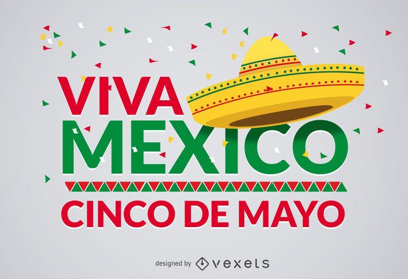 Diseño Cinco de Mayo Viva Mexico