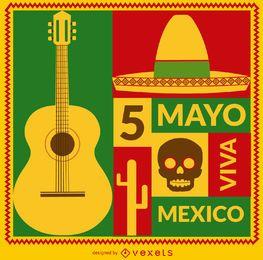 Tarjeta Viva México 5 de mayo