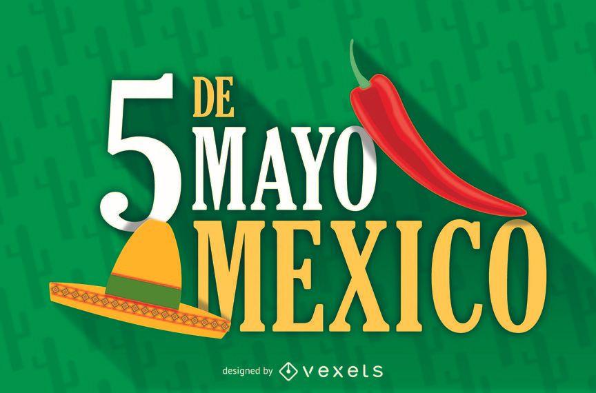 Cartaz de México 5 de maio
