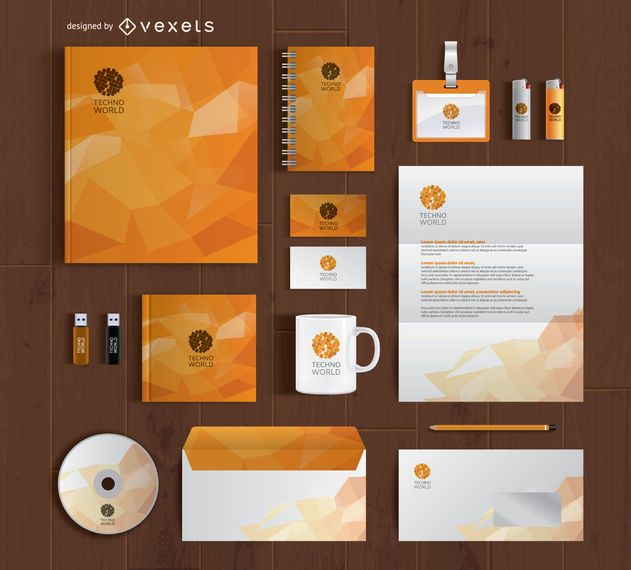 Branding-Briefpapier-Komplettsatz-Modell