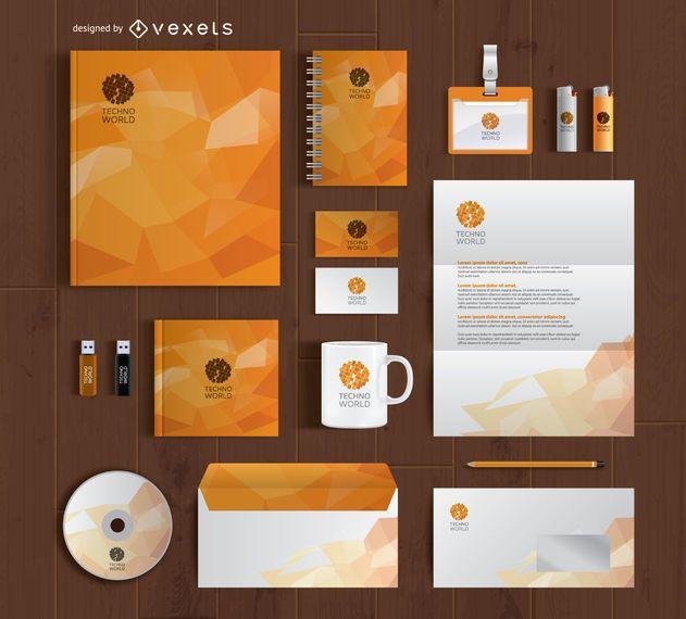 Branding stationery full kit mockup