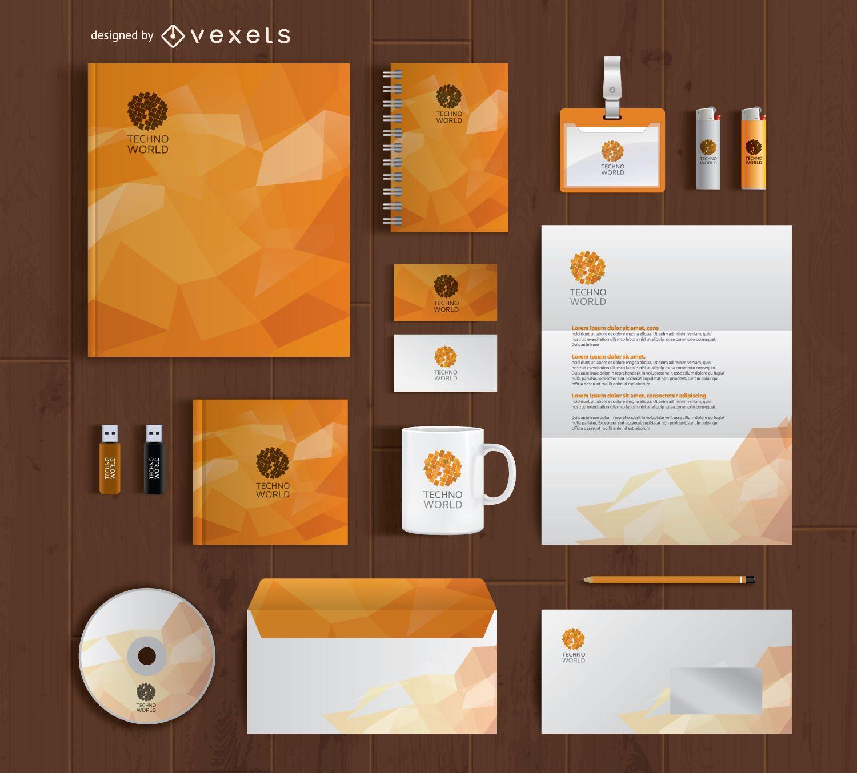 Kit completo de papelería de marca