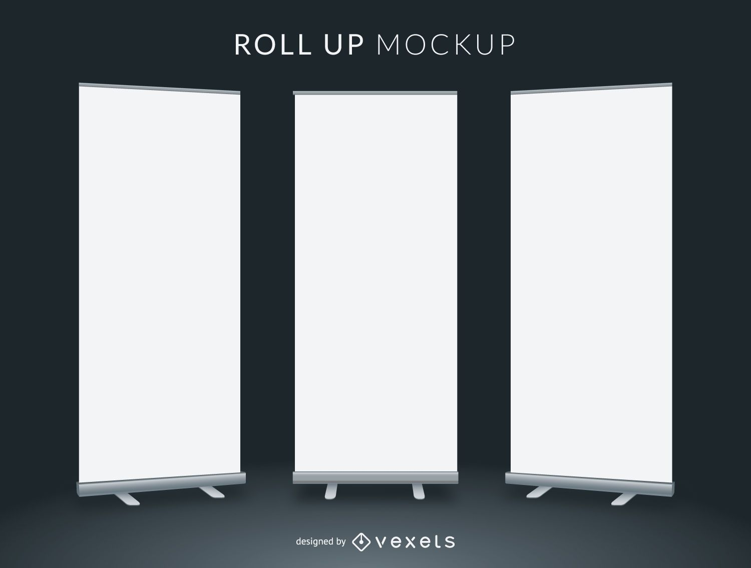 Roll Up Mockup Vector Download