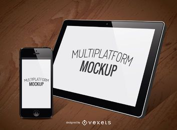 2 screen interfaces mockup