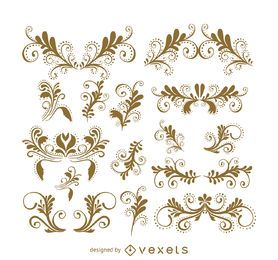 Swirls and ornament set