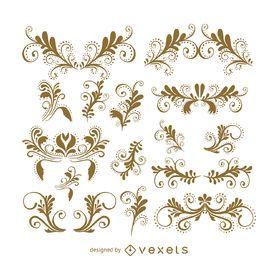 Wirbel und Ornament Set