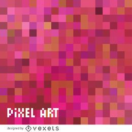 Pano de fundo rosa pixel art