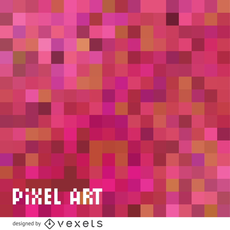 Telón de fondo de pixel art rosa