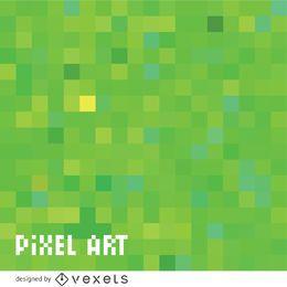Padrão de pixel verde