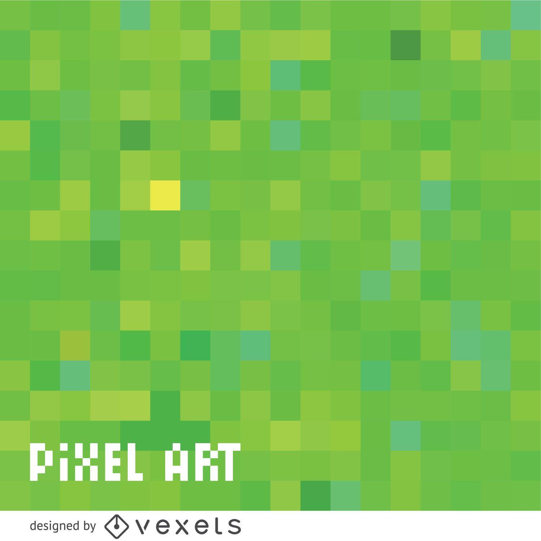 Patrón de píxeles verdes