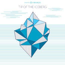 Eisberg geometrische Zeichnung