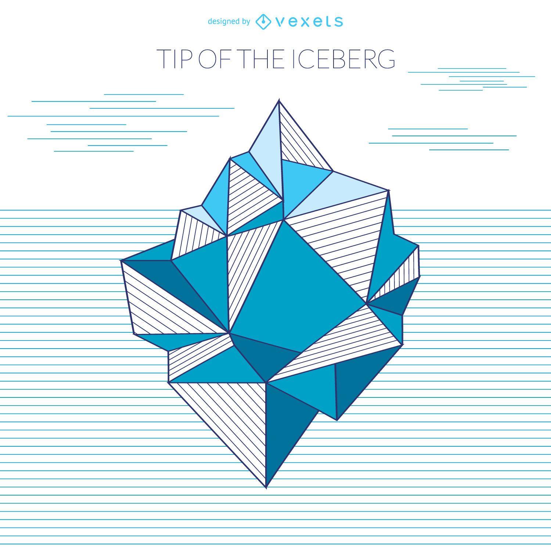 Dibujo geométrico de iceberg