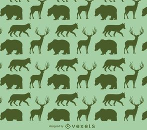 Animals silhouette pattern