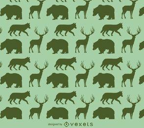Patrón de la silueta de los animales