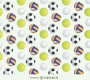 Sport ball pattern