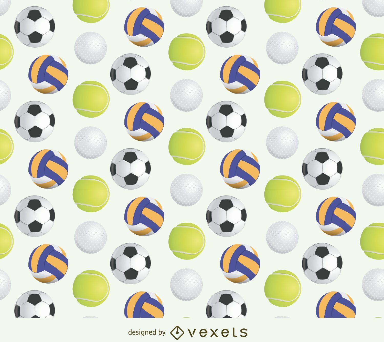 Patrón de pelota deportiva