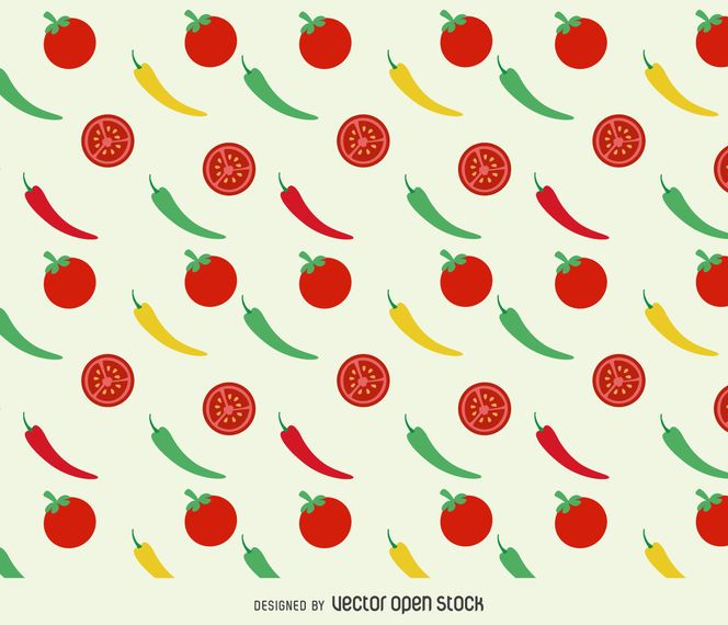 Fondo de tomates y pimientos