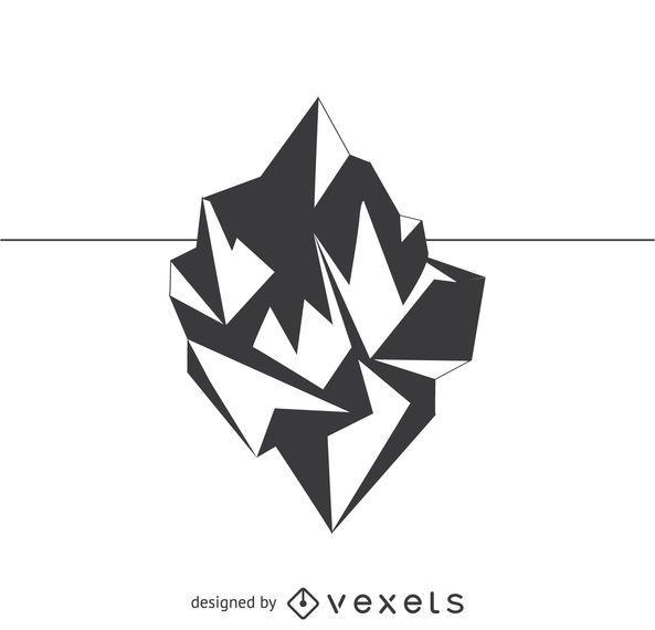 Polygonal Iceberg Drawing Vector Download