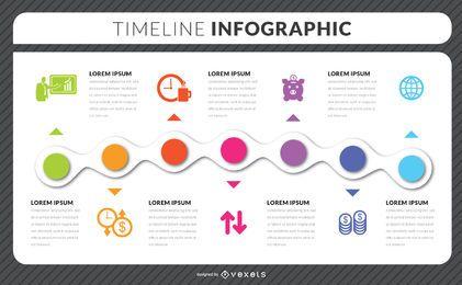Infographik Vorlage für die Zeitleiste