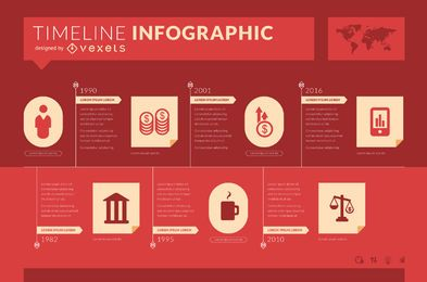 Infographic timeline mockup
