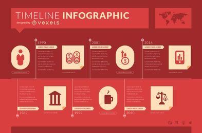Plantilla de línea de tiempo de infografía